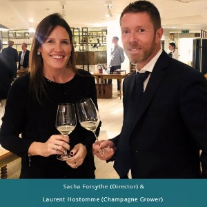 Sacha Forsythe (Director) and Laurent Hostomme (Champagne Grower)